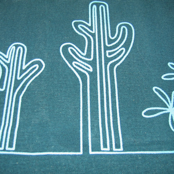 cactus designer canvas tote bag