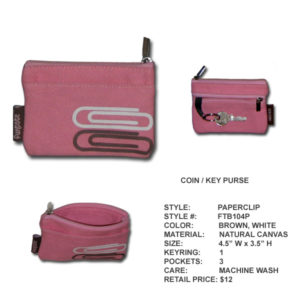 Funtote fashion canvas coin key purse