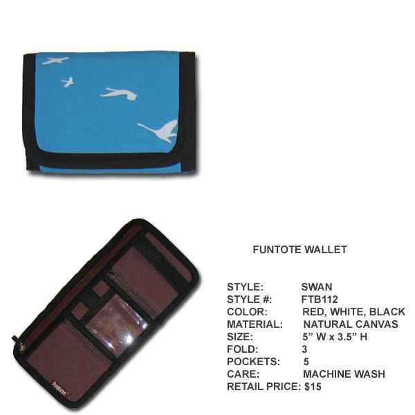 Funtote Swan canvas wallet