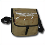 Funtote designer canvas messenger bag