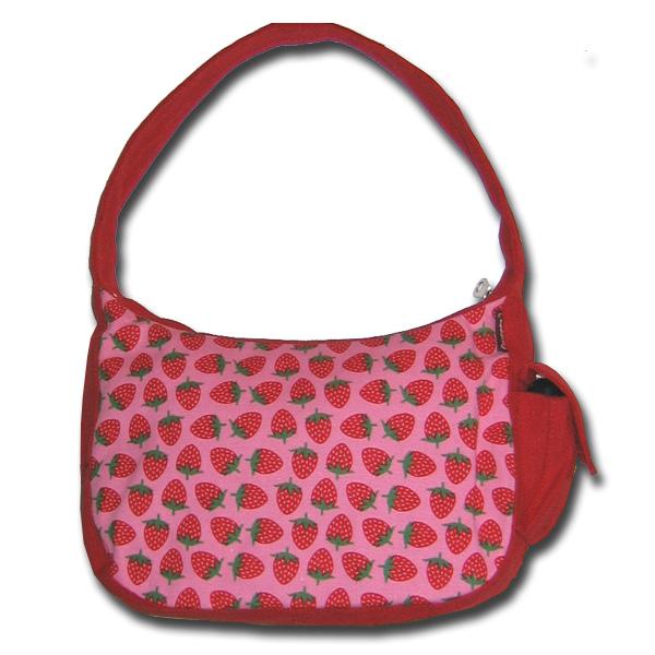 Funtote red canvas hobo bag