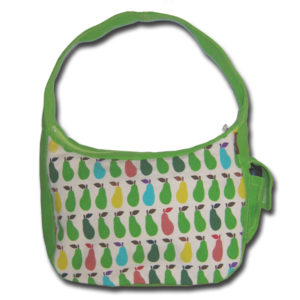 green canvas hobo bag