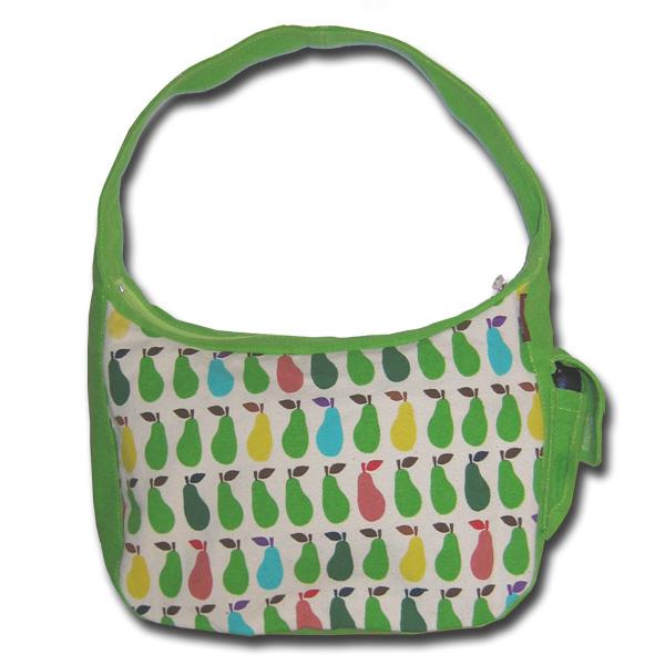 green canvas hobo bag