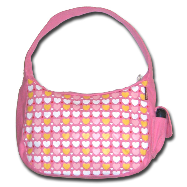 Funtote pink canvas hobo bag