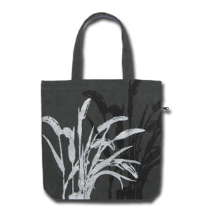 Funtote silver metallic canvas tote bag