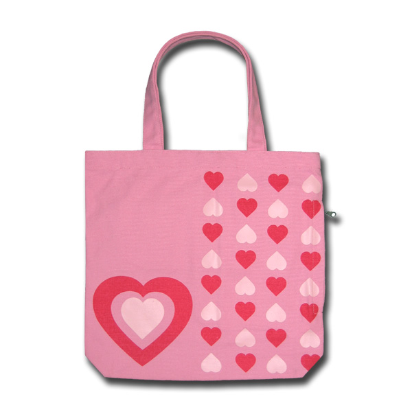 Funtote fashion pink canvas tote bag