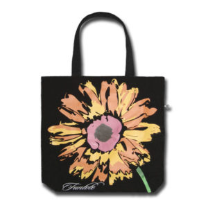 Funtote fashion black canvas tote bag
