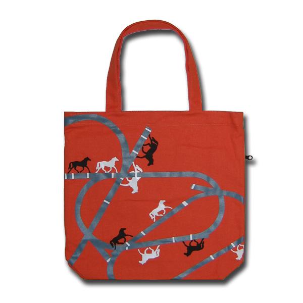 Funtote orange canvas tote bag
