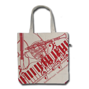 Funtote shopping canvas tote bag