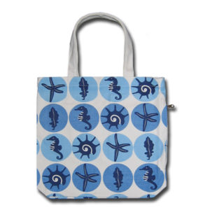 Funtote beach canvas tote bag