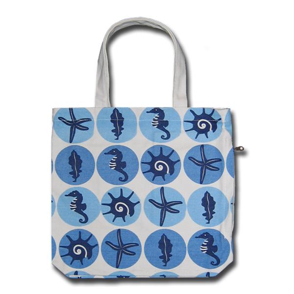 Funtote beach canvas tote bag