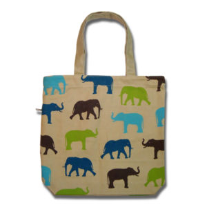 Funtote® Elephant fun canvas tote bag