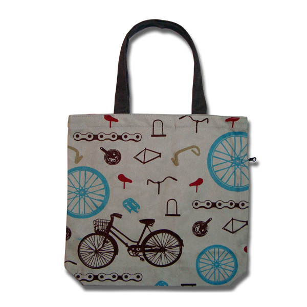 Funtote Bicycle urban canvas tote bag