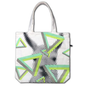 Funtote Llama carryall canvas tote bag