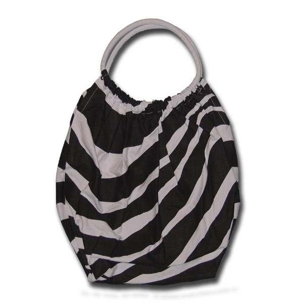 f08c512f6e5e Funtote® Zebra baggy black and white canvas sport gym tote bag