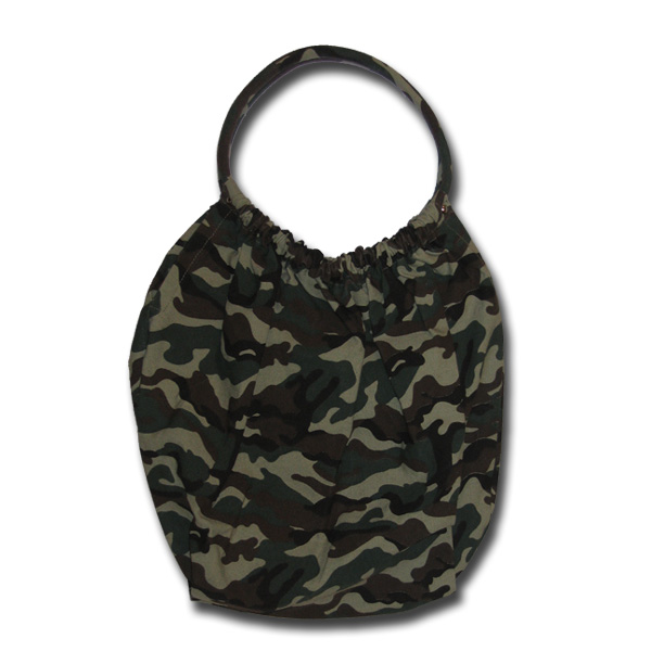 Funtote camouflage canvas gym bag