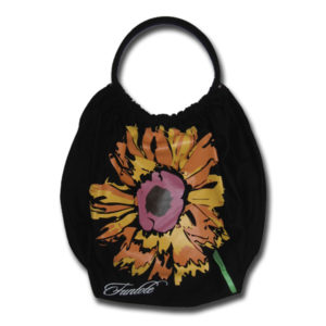 Funtote flower canvas carryall bag