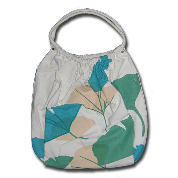 Funtote® Baggy Ginkgo Leaf designer canvas slouch bag