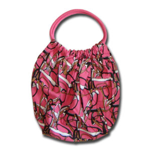 Funtote pink canvas slouch bag