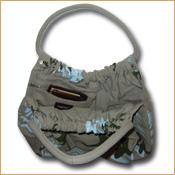 92e7e6cbcf13 Funtote Baggy Fern Leaf designer canvas carryall bag